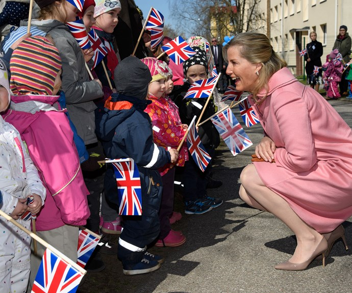 The Countess of Wessex was in the country for a royal tour, but made an important stop at the school, much to everyone's delight. This was no flying visit, she made sure to play with the children in class, tend to the gardens and even took part in an impromptu tea party!