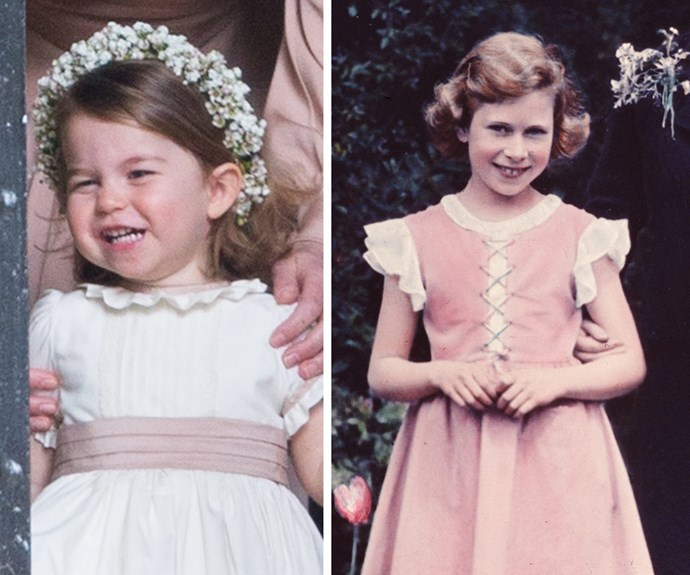Now that's a royal smile - and how good are their perfectly coiffed curls?