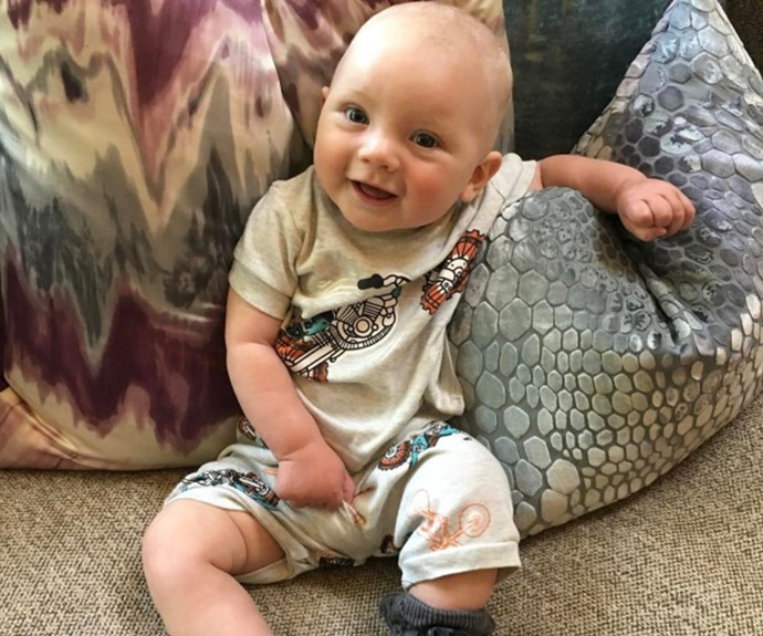 """Pink's """"not so little"""" boy, Jameson Moon, is sure growing up fast! """"He thinks what I have to say is really interesting and groundbreaking,"""" she captioned alongside the sweet snap."""