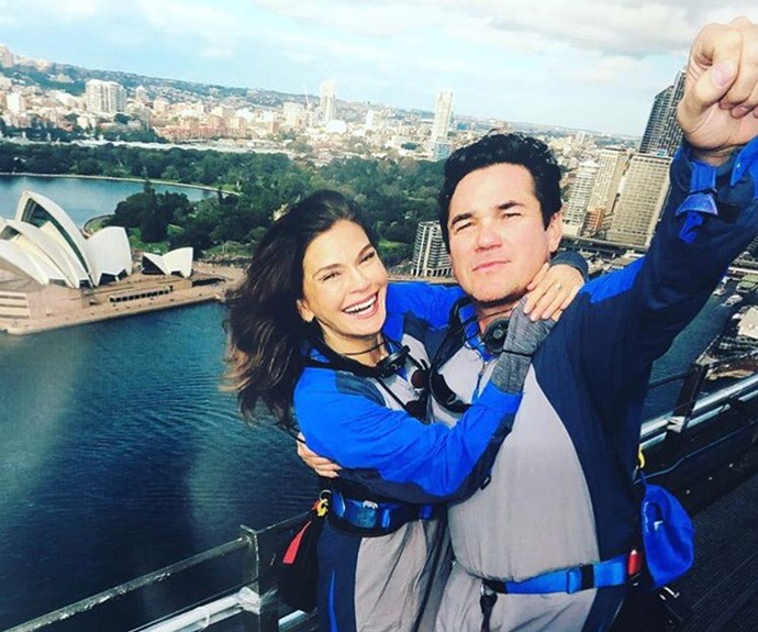 The duo soared to new heights taking in the best of Sydney, doing the Bridge Climb!
