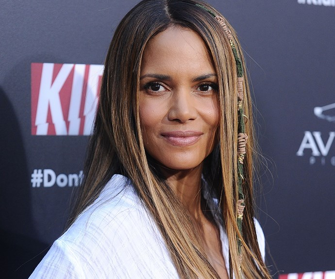 """Last time we saw Halle Berry, she was repping the most gorgeous [natural curls](http://www.nowtolove.com.au/beauty/hair/halle-berry-curly-hair-oscars-red-carpet-35458