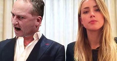 Amber Heard rinses Barnaby Joyce over citizenship snafu