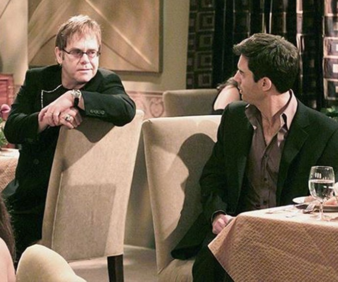 **Elton John as himself (Appearance: S5, E10):** Worldwide superstar Elton John briefly appeared as himself in a season five episode of *W&G*. During the episode, Jack tried to convince Will that the gay mafia exists, but Will doesn't believe him. Elton overheard Will talking about it at a restaurant and promptly introduced himself as THE gay mafia!