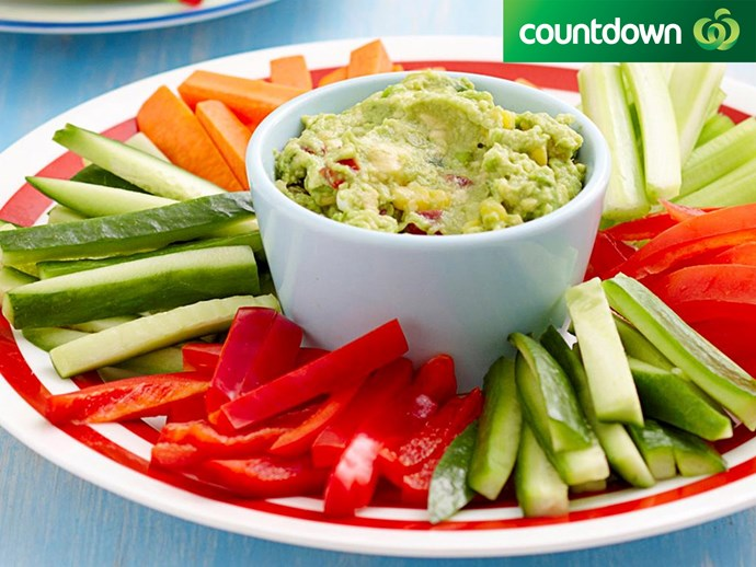 "It's easy to make [guacamole.](http://www.foodtolove.co.nz/recipes/guacamole-with-vegie-sticks-12194|target=""_blank"")"