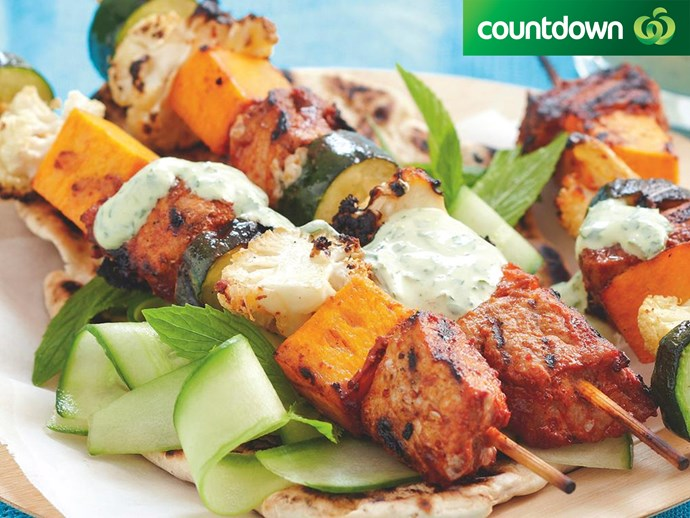 "These [tandoori chicken skewers](http://www.foodtolove.co.nz/recipes/tandoori-chicken-skewers-10292|target=""_blank"") are packed with veges."