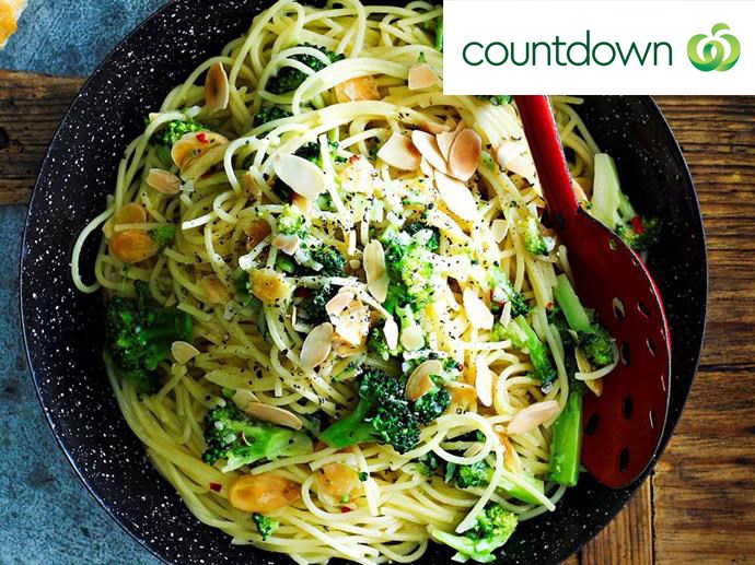 "Simple tasty [spaghetti with broccoli](http://www.foodtolove.co.nz/recipes/spaghetti-with-broccoli-13844|target=""_blank"")"