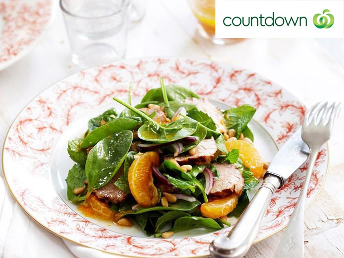 "Get your tasty and healthy fix with this [pork and mandarin salad](http://www.foodtolove.co.nz/recipes/pork-and-mandarin-salad-13648|target=""_blank"")"