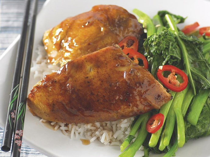 "Oyster Sauce is the tasty addition to these [Sticky chicken with Chinese broccoli](http://www.foodtolove.co.nz/recipes/sticky-chicken-with-chinese-broccoli-10397|target=""_blank"")"