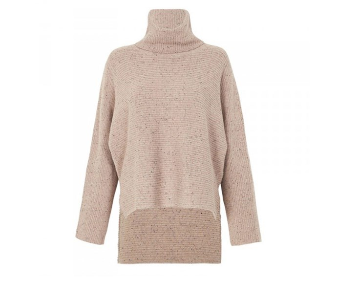 Eden Speckle turtleneck, $259 (AUD) by Camilla and Marc