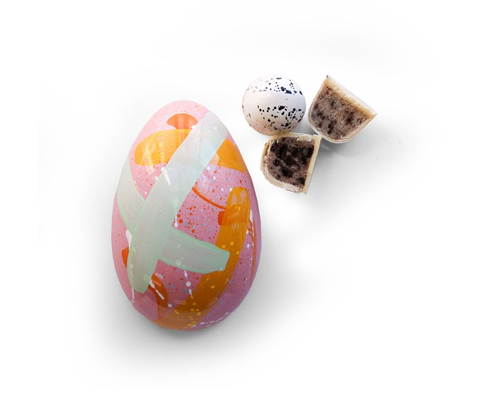 [**House of Chocolate hand-painted white chocolate $35**](http://houseofchocolate.co.nz/buy-chocolates/shop-by-occasion/easter-treats/white-chocolate-easter-egg.html) Make a statement with a pink hand-painted white chocolate egg, with two delicious chocolate bonbons inside. If you are hitting the road this Easter take note, the egg has a thick shell so it can travel well.