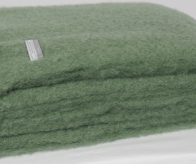 Windermere throw, $235, from [The Mohair Store.](http://www.themohairstore.co.nz/categories/mohair-throws/mohair-throw-blanket-olive)