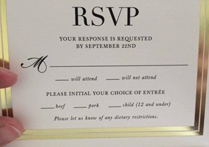 Wedding RSVP card is ultimate fail