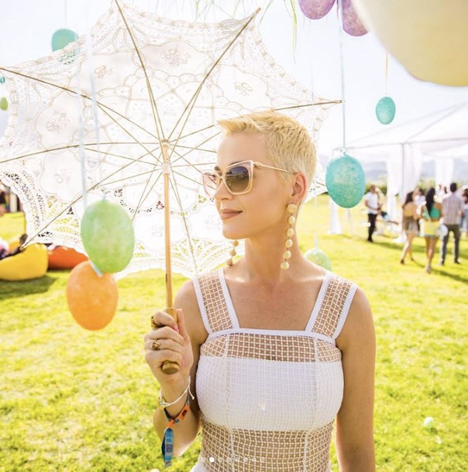 Katy Perry looked picture perfect as she attended the festival.