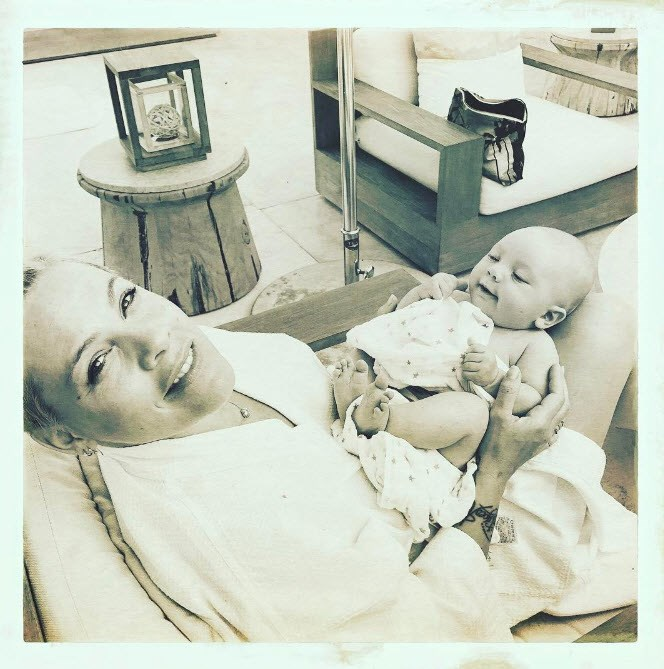 Pink shares this beautiful snap of her new bubba.