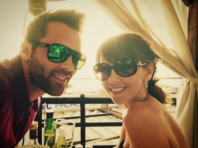 Coronation Street star Samia Longchambon jets off with her husband, Sylvain.