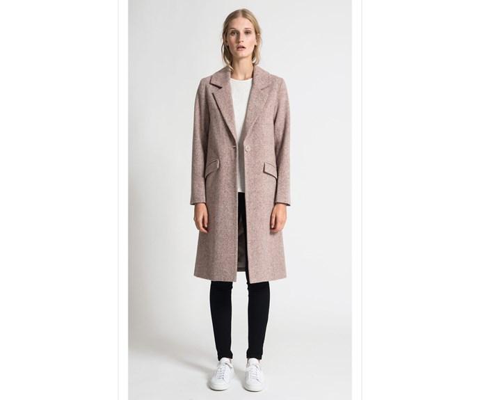 Coat, $699, [Juliette Hogan.](https://juliettehogan.com/collections/jackets-coats/products/colin-coat-tweed-suiting?variant=34097203214)