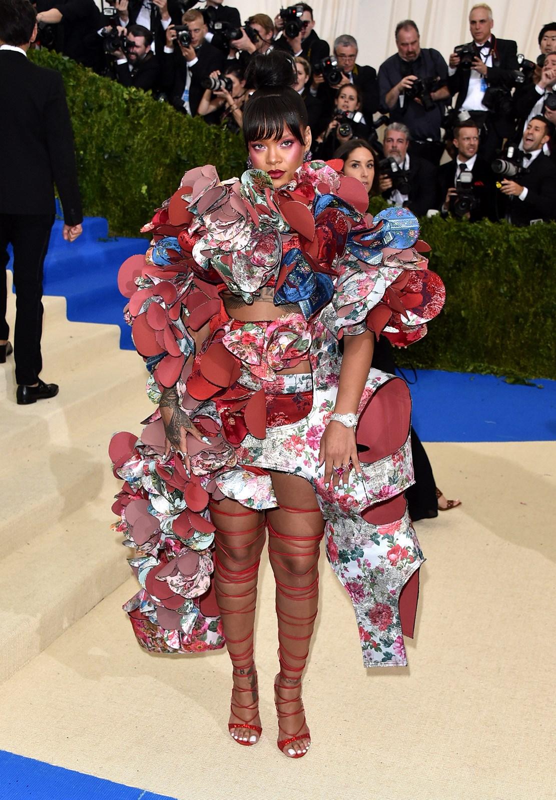 "**Sylvie Horton, art director: Rihanna in Comme des Garçons.** ""No one else comes close to Riri - she nailed it."""