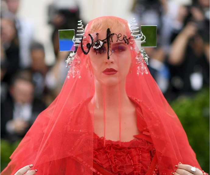 Katy Perry at the Met Gala 2017.