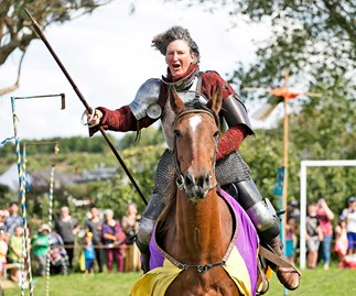 Northland's jousting grandma in shining armour