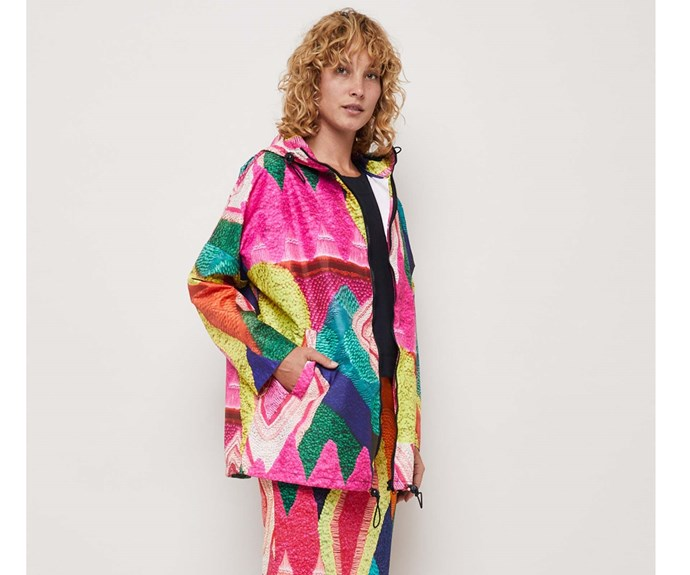 [Rain jacket, $107, by Gorman.](http://www.gormanshop.com.au/aw17/raincoats/i-m-not-afraid-raincoat.html)