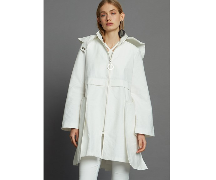 [Raincoat, $695, by Taylor.](https://www.taylorboutique.co.nz/profile-coat-ivory.html)