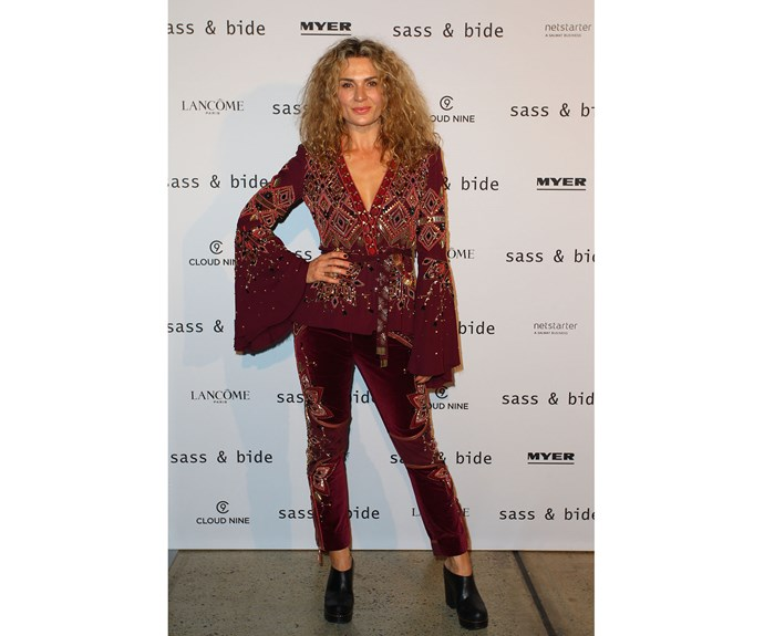 Danielle Cormack at Sass & Bide in a bespoke creation by the brand.
