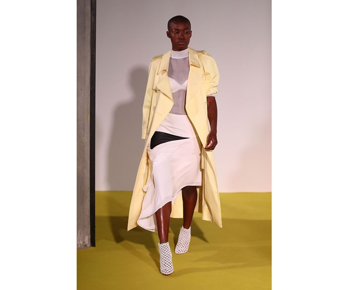**The new trench** at Chrisopher Esber.