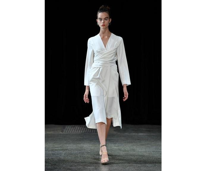 **Little white dress** at Gary Bigeni.