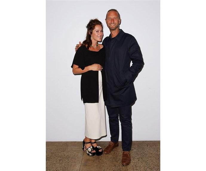Kate Fowler and Justin Hemmes at Ellery x Etihad Airways.