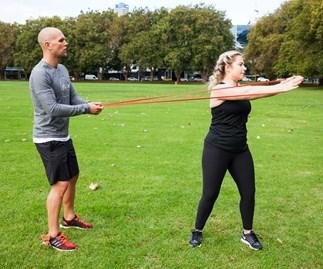 A high heart-rate workout