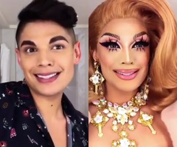 A drag queen shares her makeup routine