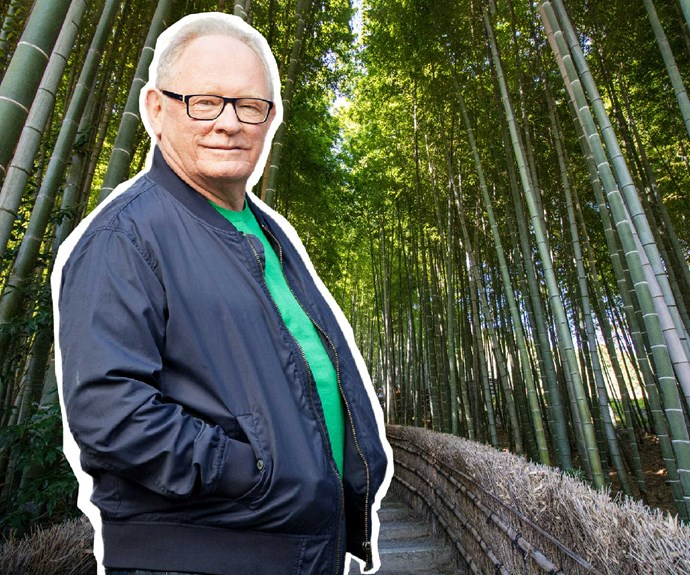 Kevin Milne in Kyoto's bamboo forest