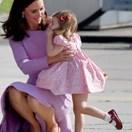 Princess Charlotte throws mini tantrum on the tarmac at Hamburg