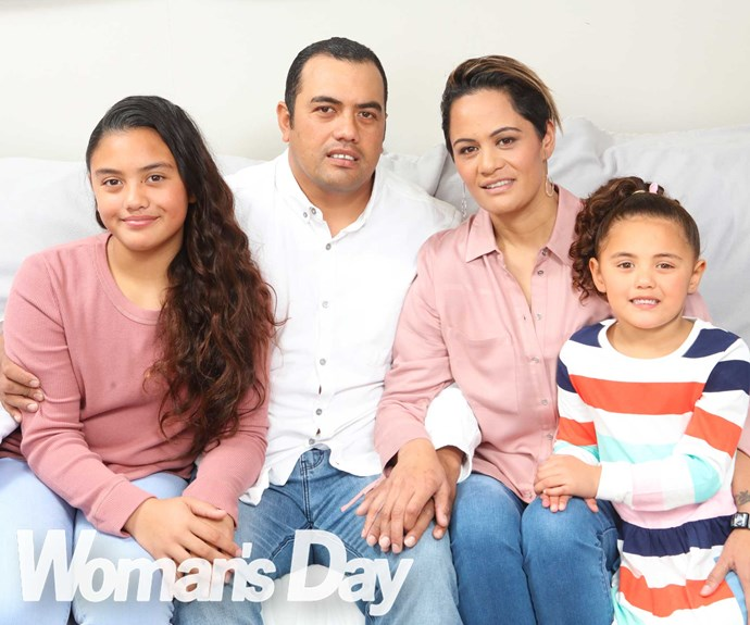 The brave family (from left) Kalani, Presley, Karamea and Cecelia are left with a huge hole in their hearts.