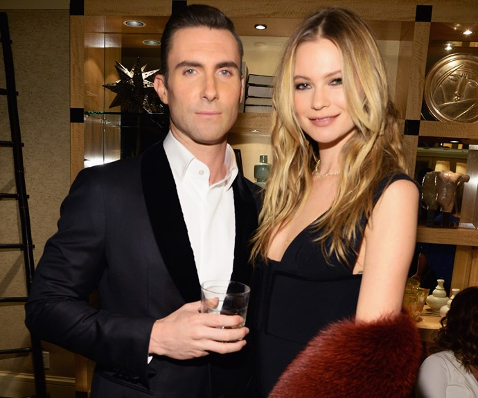**Behati Prinsloo and Adam Levine: 10 years**  Supermodel Behati is 25. But what surprises us is that Adam is 35! The Maroon 5 singer doesn't look like he is approaching 40 at all.  Adam laughs about rumours of a split in the video on the next slide.