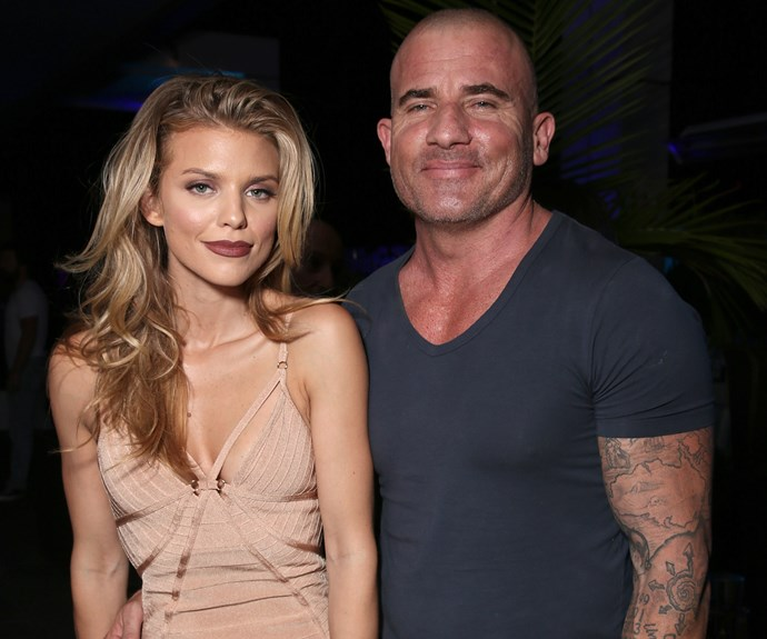 **Annalynne McCord and Dominic Purcell: 17 years** She is 29, he is closing in on 50. This acting couple is still super cute!
