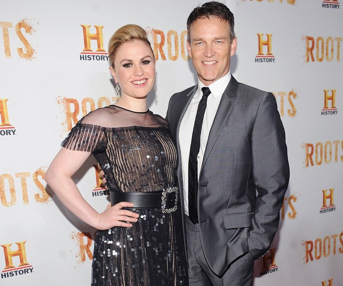 **Stephen Moyer and Anna Paquin : 13 years** 34 year old Kiwi Anna met her now-husband, 46, when the two starred as on-again, off-again lovers in the hit vampire series *True Blood*.