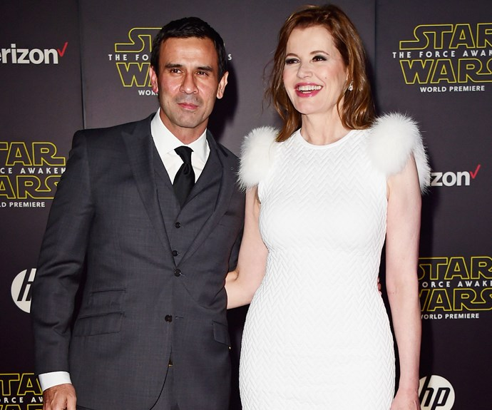 **Geena Davis and Dr. Reza Jarrahy: 15 years** Though Geena, 60, has been married three times before (once even to Jeff Goldblum), she now has three children with 45-year-old surgeon, Reza.