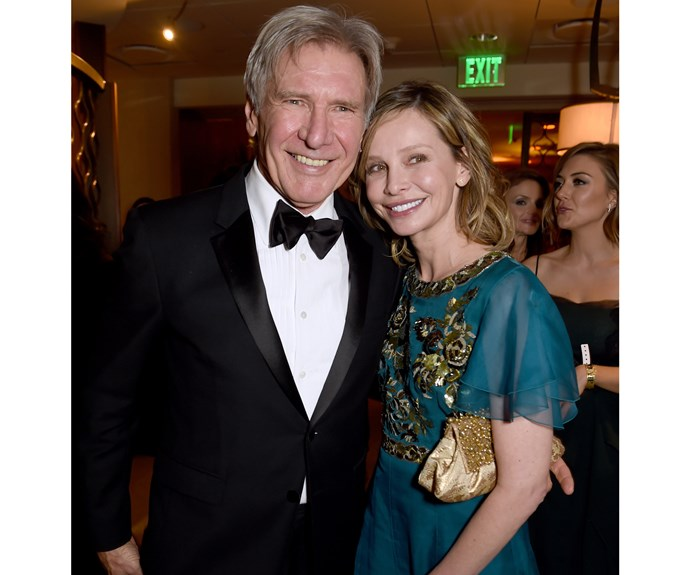 **Harrison Ford and Calista Flockhart: 22 years**  Who knew Indiana Jones and Ally McBeal would be such a great couple? Harrison, 74, met Calista, 51, at the Golden Globes in 2002. They married in New Mexico in 2010.