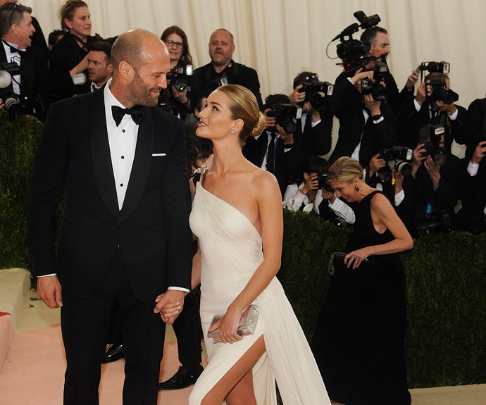"""**Jason Statham and Rosie Huntington-Whiteley: 20 Years**  The action star is 49, while his gorgeous supermodel fiance is only 29. The pair got engaged in January 2016 and Rosie has only good things to say about her long-time love, telling one media outlet, """"We're best mates. He makes me laugh every day."""" **See Jason dive for England in the Commonwealth games back in the day on the next slide.**"""