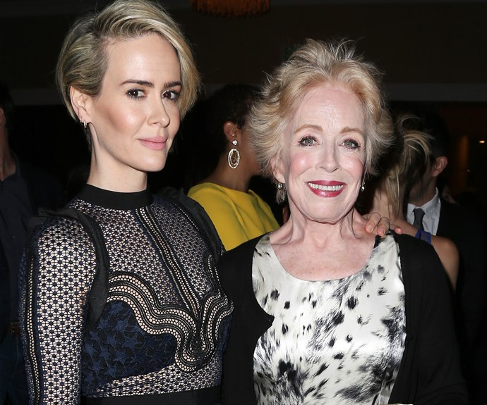 """**Sarah Paulson and Holland Taylor: 31 years** You might recognise Sarah's 74-year-old squeeze from *Two and a Half Men*. *American Horror Story* star Sarah, 42, told *The New York Times* that """"There's a poignancy to being with someone older. I think there's a greater appreciation of time and what you have together and what's important."""""""
