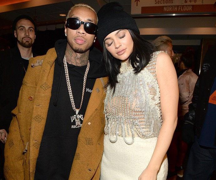 **Tyga and Kylie Jenner: 8 years** The on-again, off-again couple finally called it quits earlier this year, but dating rumours first started swirling around the pair as early as 2014, when Kylie was 17 and Tyga was 25.  **See Tyga talk about the age difference in the video on the next slide.**