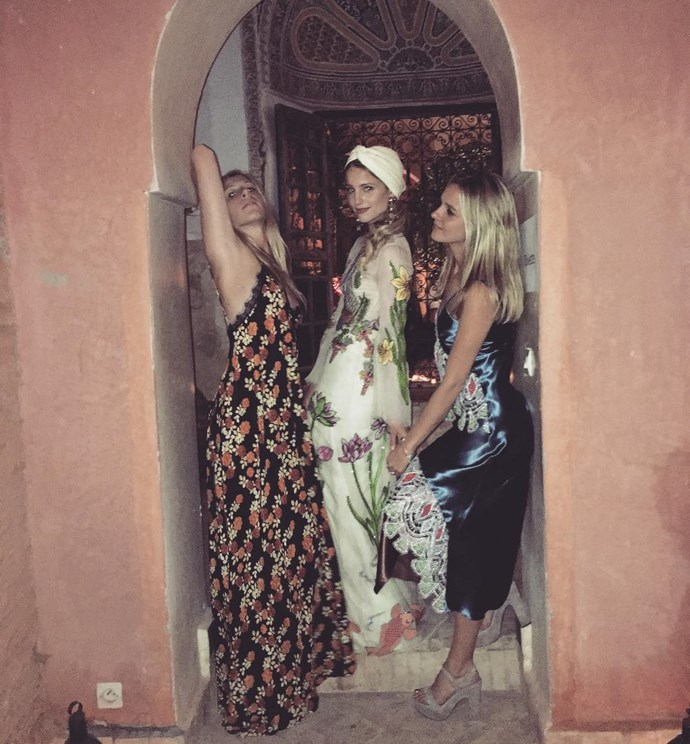 The starlet parties the night away with her pals after her wedding. Photo: Instagram