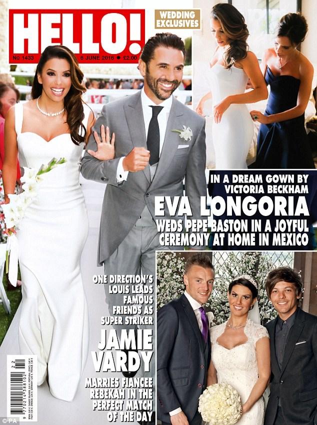 **Eva Longoria and Jose Baston** Eva Longoria tied the knot with hubby Jose Baston in a beautifuil ceremony in Valle de Bravo, Mexico, with plenty of celebrity pals in attendance.