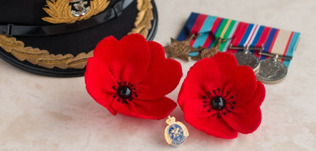 ANZAC poppy pin