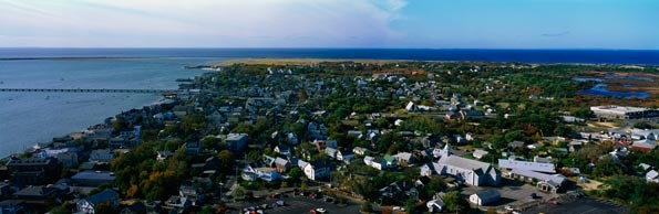 An aeriel view of Cape Cod