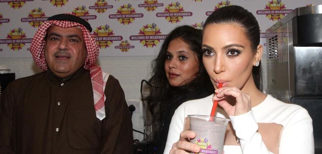 Kim Kardashian sparks a riot in the Middle East