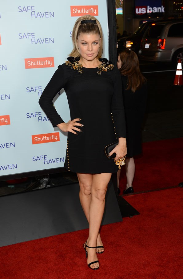 Fergie at the premiere of Safe Haven earlier this month