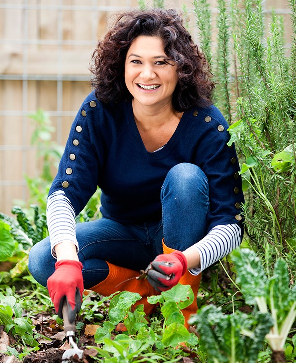 Growing up, Nicola says her family had a garden and she belonged to a gardening club at primary school.