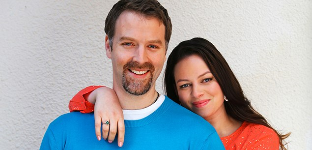 Actor Tim Foley with his fiance